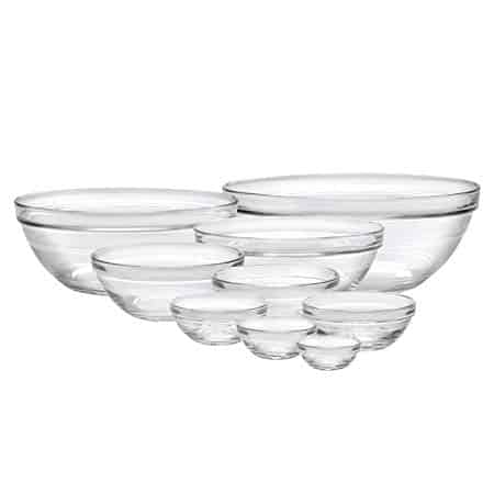 Duralex 100009  Made In France Lys Stackable 9-Piece Bowl Set
