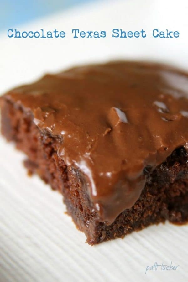 Picture of Texas Chocolate Sheet cake