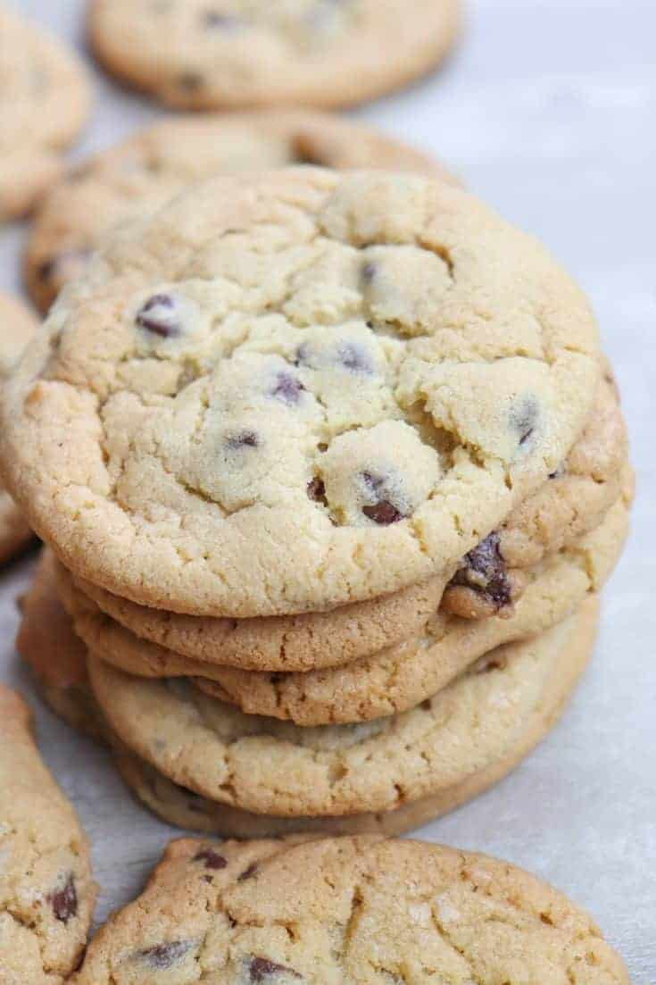 Chocolate Chip Cookies with Pudding are a tasty dessert to fix. Once you get a hold of one, they are hard to put down. The instant pudding cookies are a fabulous treat.#chocolatechips #sugar #baking #holidays #sweettreats #easydesserts