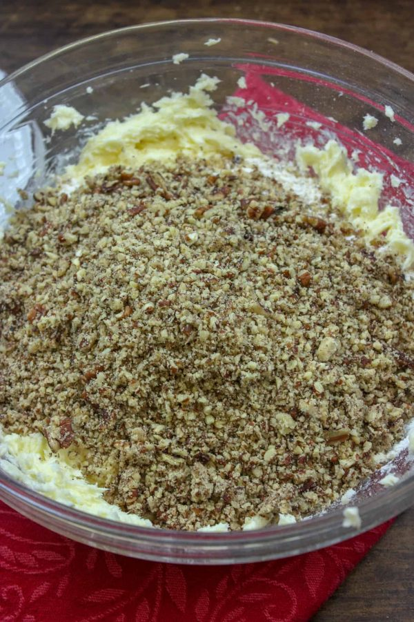 Picture of grated pecans in a large bowl