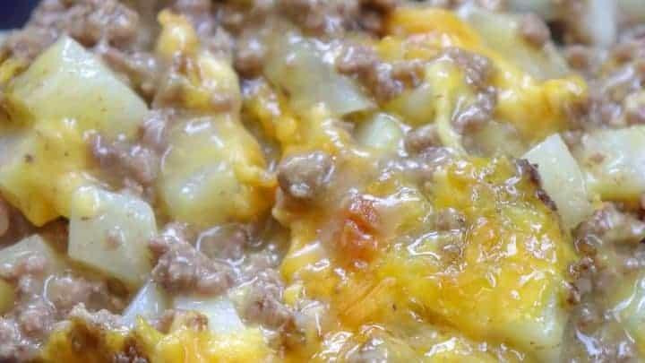 5-Ingredient Ground Beef Casserole
