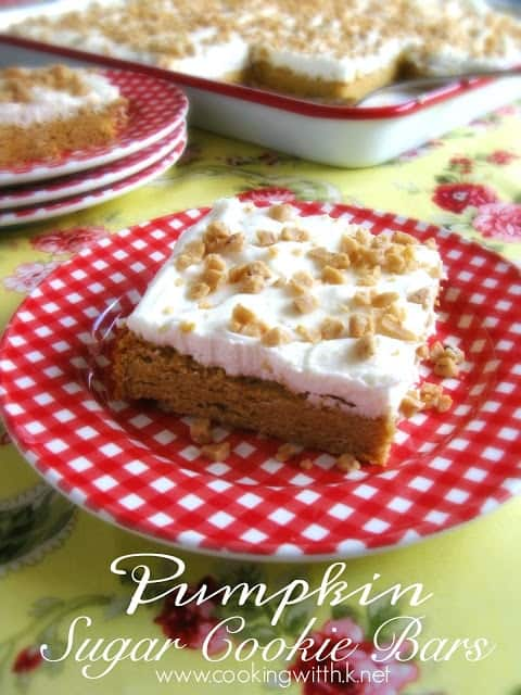 Picture of pumpkin cookie bars