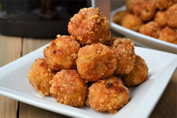 Healthy Air Fryer Low Carb Parmesan Chicken Meatballs from Fluster Buster
