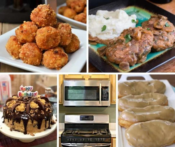 We have a lot of delicious recipes this week on Foodie Friday. Salisbury Steak, Healthy Air Fryer Low Carb Parmesan Chicken Meatballs, Easy 15-Minute Maple Bars, Peanut Butter Chocolate Reese's Birthday Cake, and Tips to Prevent Kitchen Fires. It's a great week.