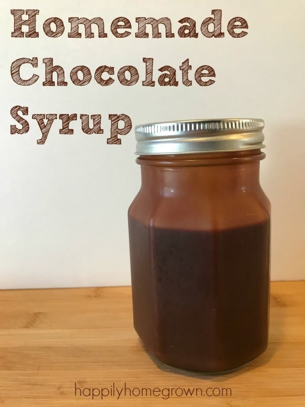 Picture of Chocolate Syrup in a jar.