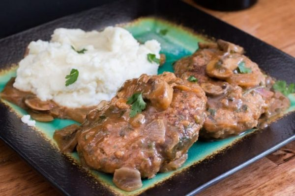 Salisbury Steak and Gravy from The Bearded Hiker