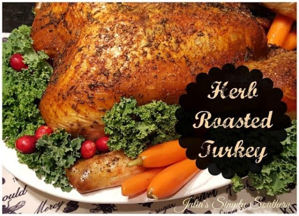 Picture of herb roasted turkey