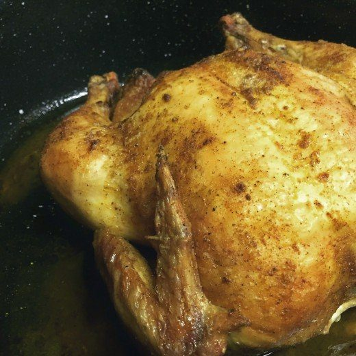 Picture of roasted chicken