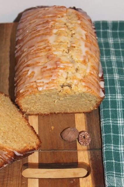 Picture of eggnog loaf cake