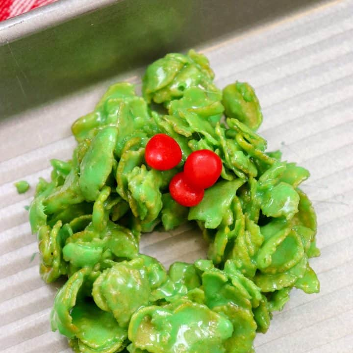 Picture of Christmas wreath cookies