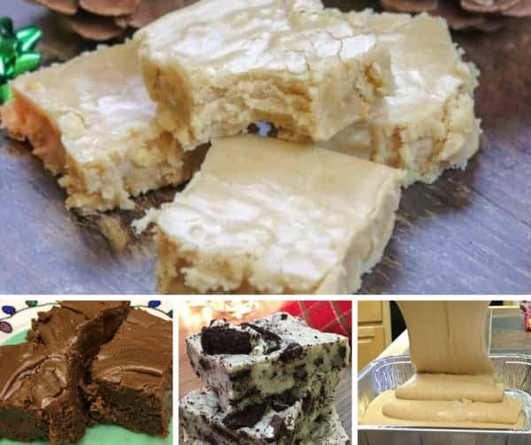 Picture of different types of fudge