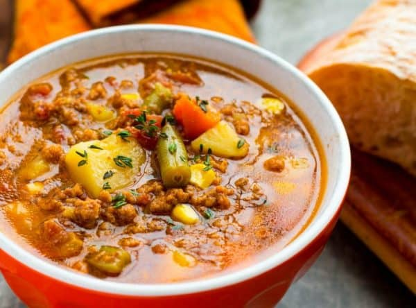 Picture of soup in a bowl