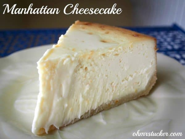 Picture of cheesecake on a plate