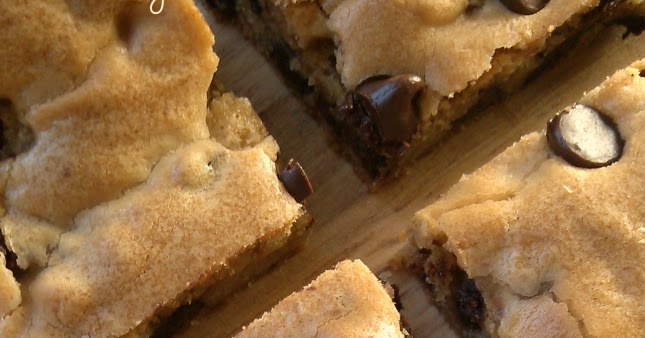 Chewy Chocolate Chip Cookie Bars - South Your Mouth