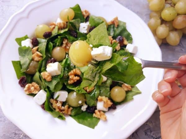 Picture of salad on a white plate