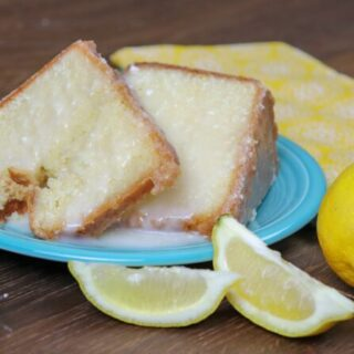 Picture of pound cake on a plate