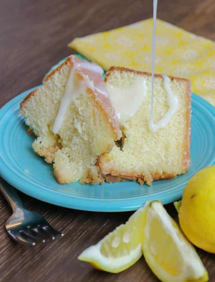 This lemon pound cake recipe is a buttery dense delight. The lemon frosting glaze with sour cream is the perfect addition to drizzle right over the dessert. This rich flavored lemon pound cake is undoubtedly a dessert to die for.#easy #recipe #best #withglaze #homemade #moist #bundt #fromscratch