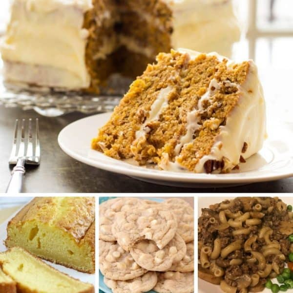 Picture of four different recipes