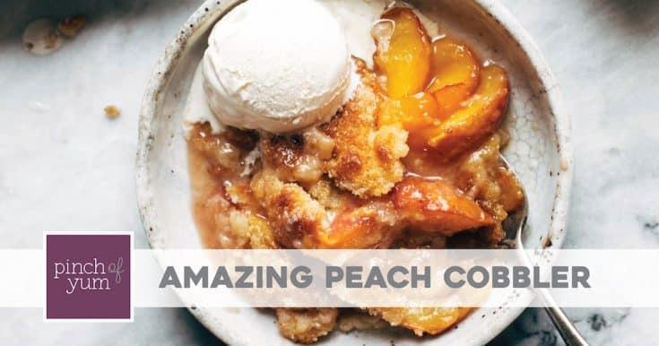 Georgia - Peach Cobbler - Pinch of Yum