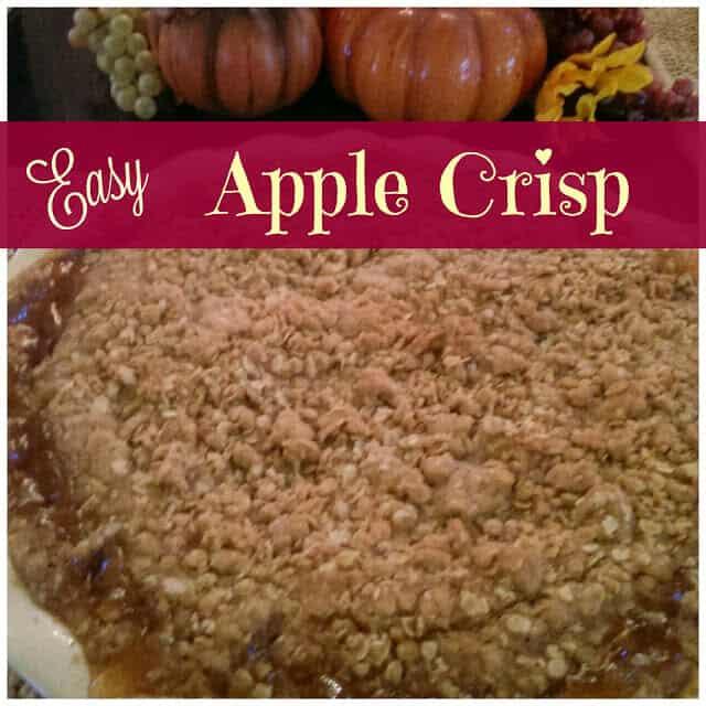 Washington - Easy Apple Crisp - Julia's Simply Southern