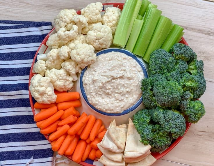 Picture of dip and veggies