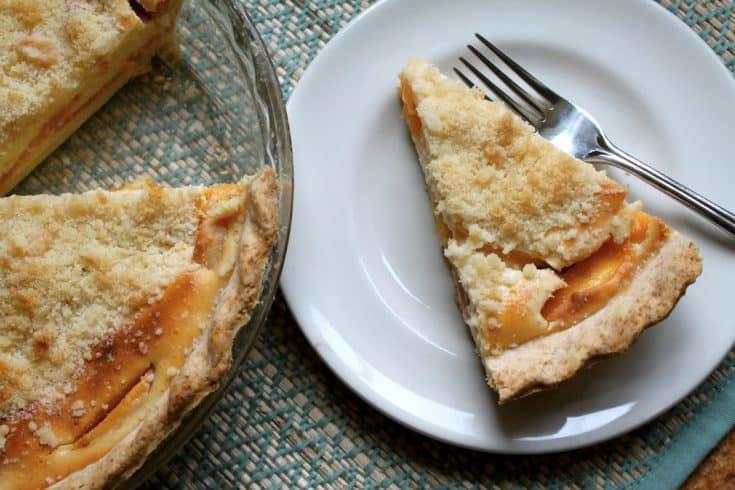 Delaware - Custard Peach Pie - Christina's Cucina