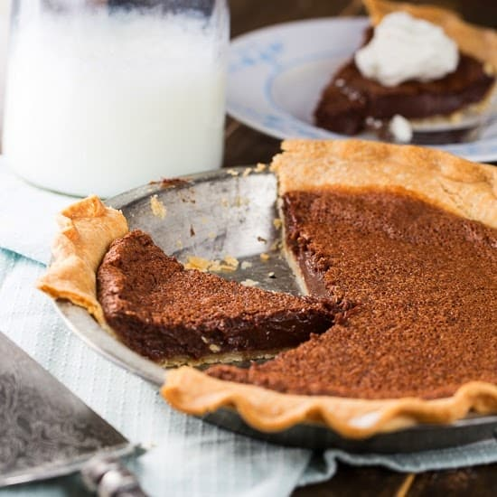 Virginia - Chocolate Chess Pie - Served Up with Love and Spicy Southern Kitchen