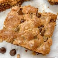 Chocolate Chip Cookie Bars with Toffee