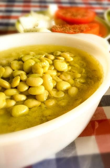 Lima beans in a bowl