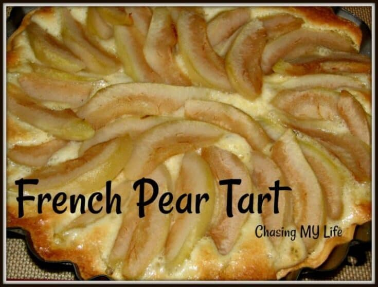 Picture of a pear tart