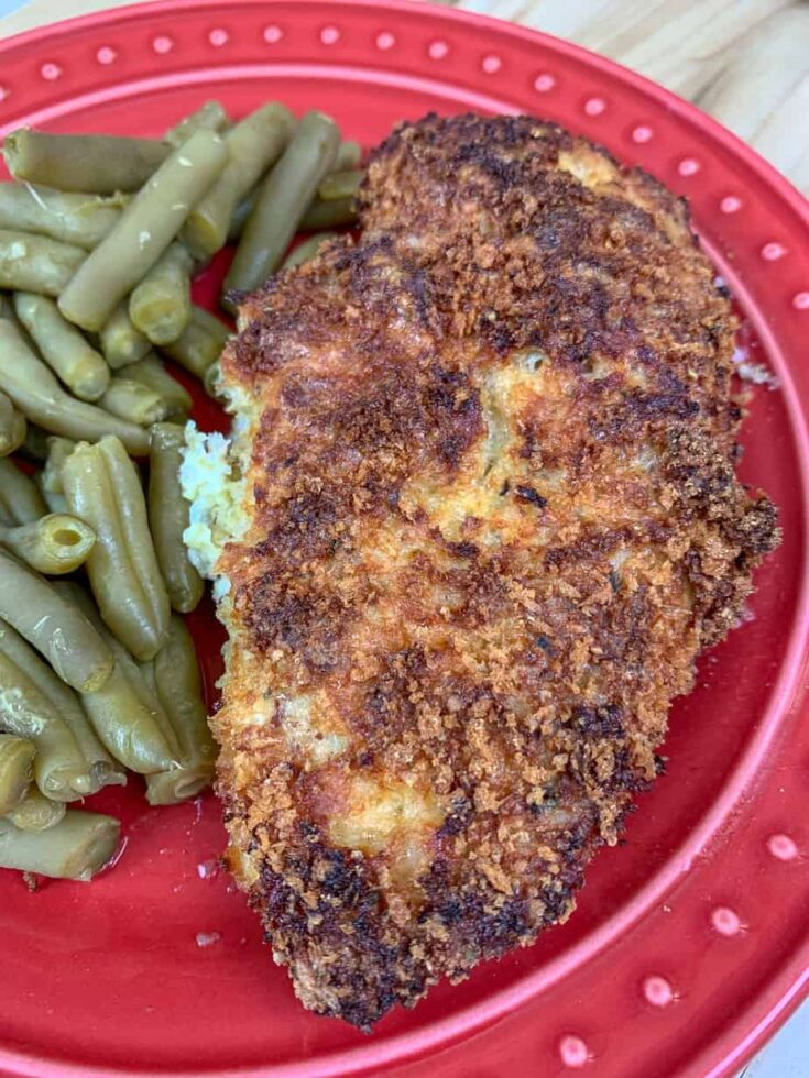Picture of breaded chicken on a plate