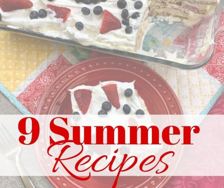 Berry icebox cake with print