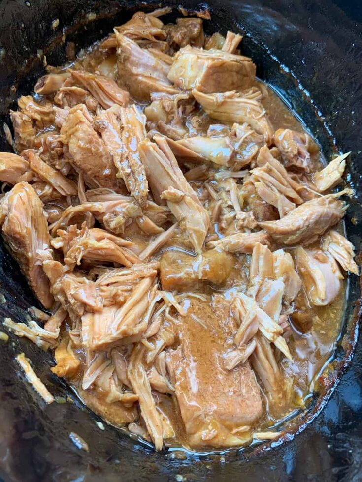 Pork chops in a slow cooker