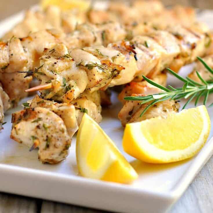 Rosemary-Garlic Chicken Kabobs