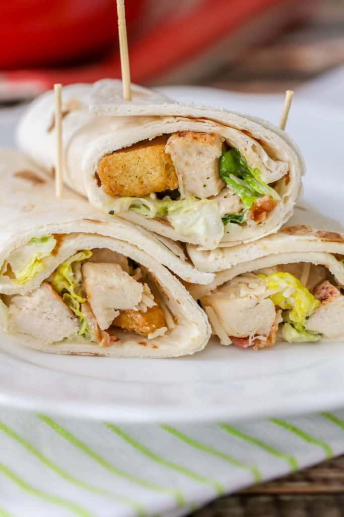 Grilled Chicken Caesar Wraps {Yummy & Healthy} - Lil' Luna