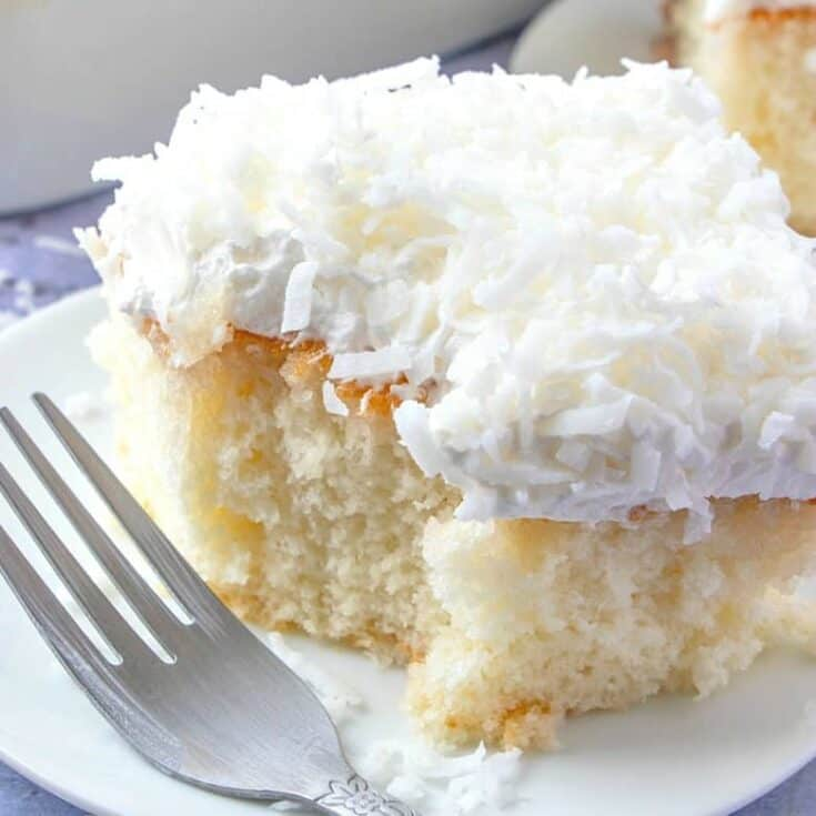 COCONUT CREAM POKE CAKE (+VIDEO) - The Country Cook