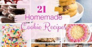 Eight pictures of homemade cookies