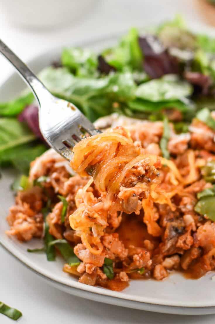 Low Carb Spaghetti Squash Spaghetti Bake