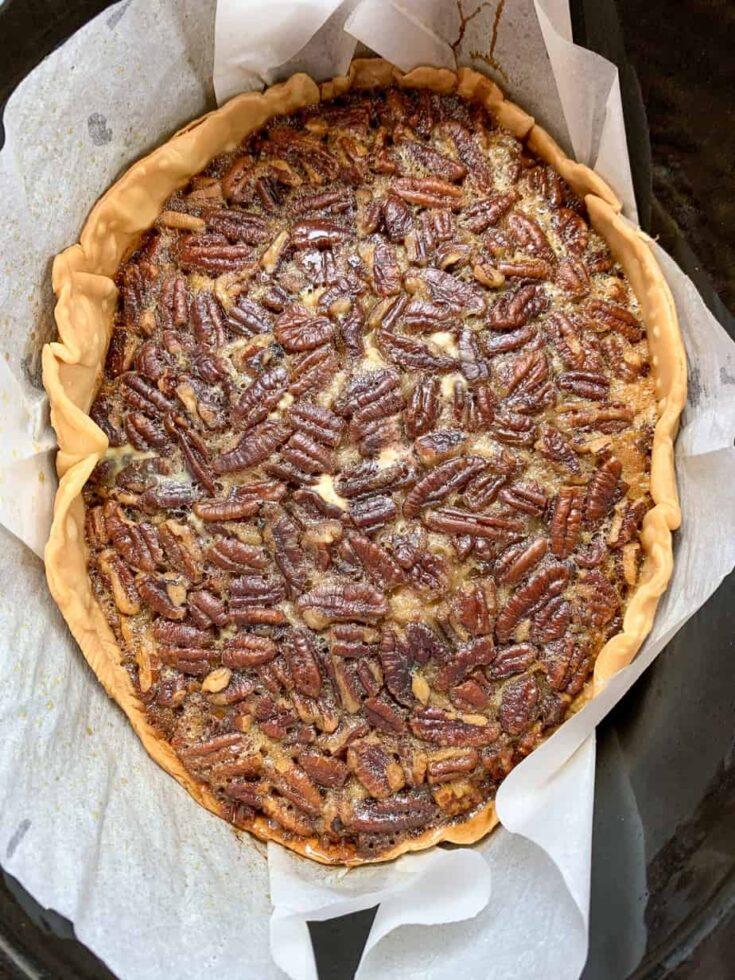 Pecan pie in a slow cooker