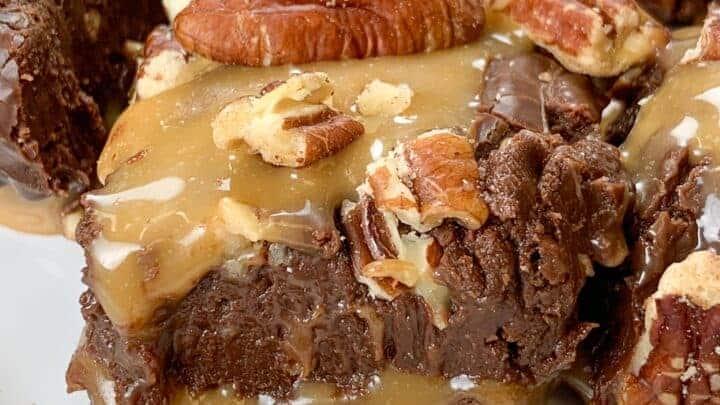 Chocolate Turtle Fudge