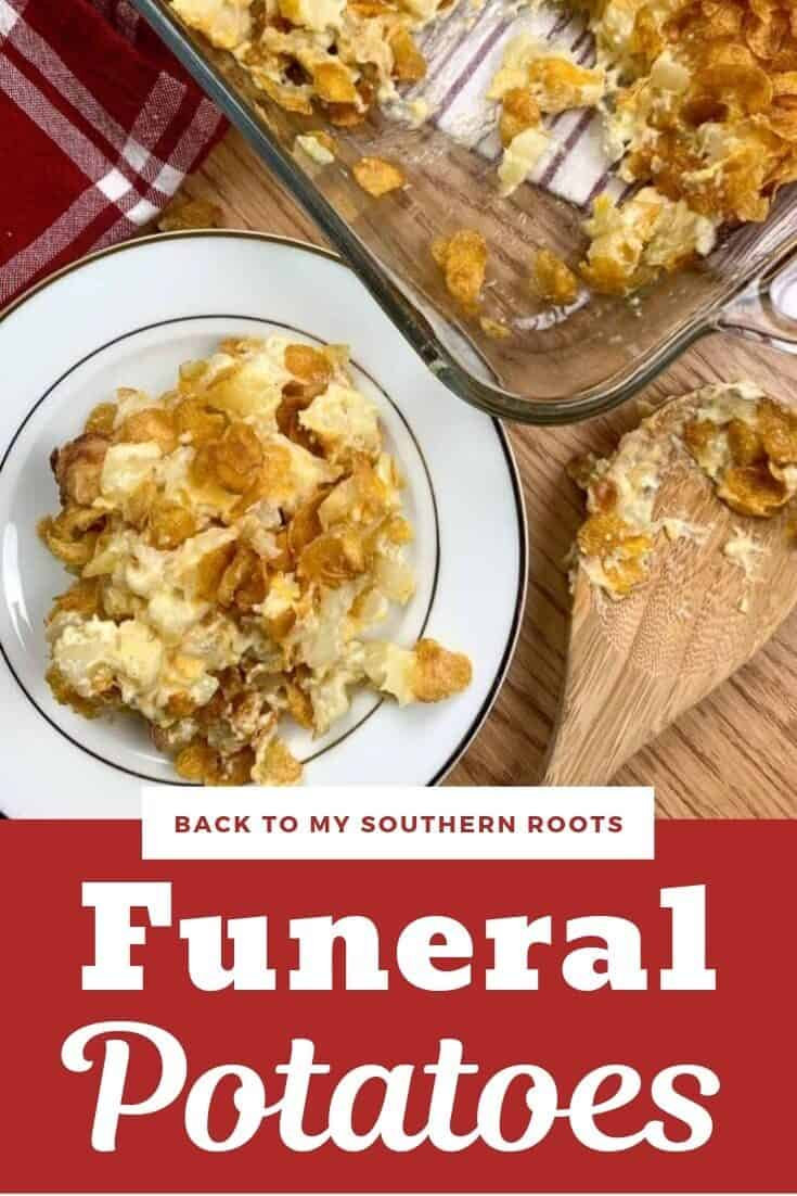 Funeral potatoes are an easy side dish to make and are perfect for a crowd. The dish is made with Corn Flakes and works for any holiday or every day dinners. The cheesy recipe tastes amazing.