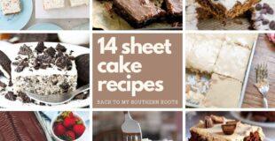 14 sheet cake recipes collage