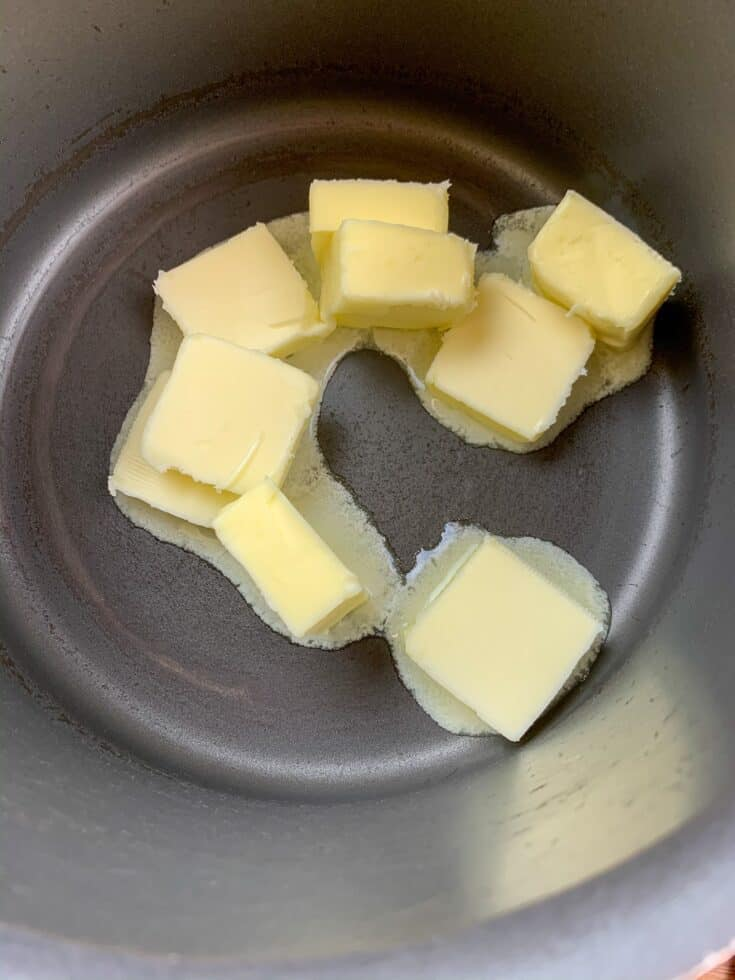 Butter melting in a saucepan