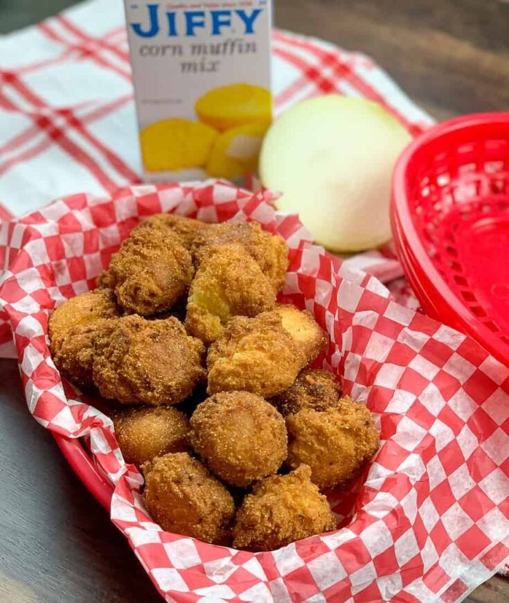 Hush puppies in a basket