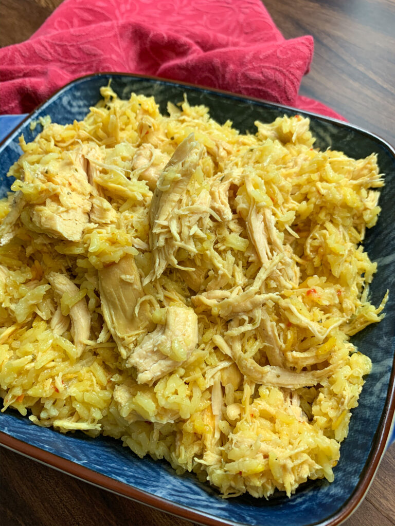 Slow cooker chicken breast with Spanish rice