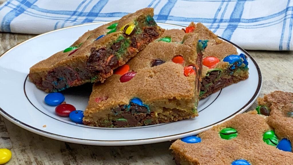 M&M Cookie Bar Recipe