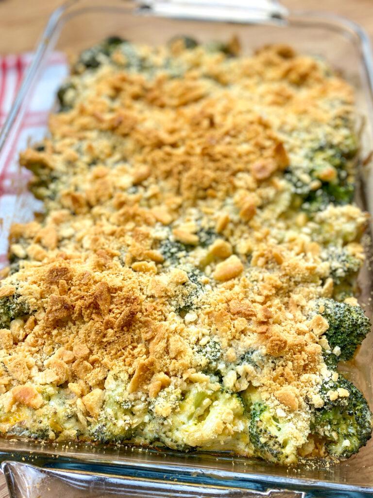 Cooked broccoli casserole.