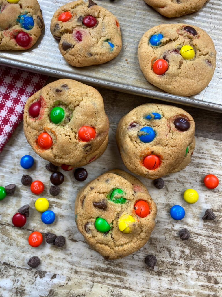 Cookies on a cookie sheet.