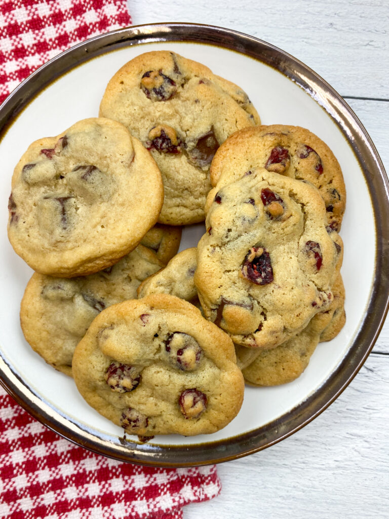 Cranberry cookies on a plate.