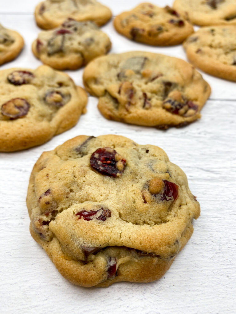 Chocolate chip cookies with cranberries